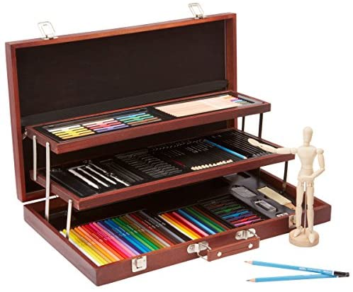 Alex Studio Expressions Deluxe Wooden Drawing Case Kids Art Supplies