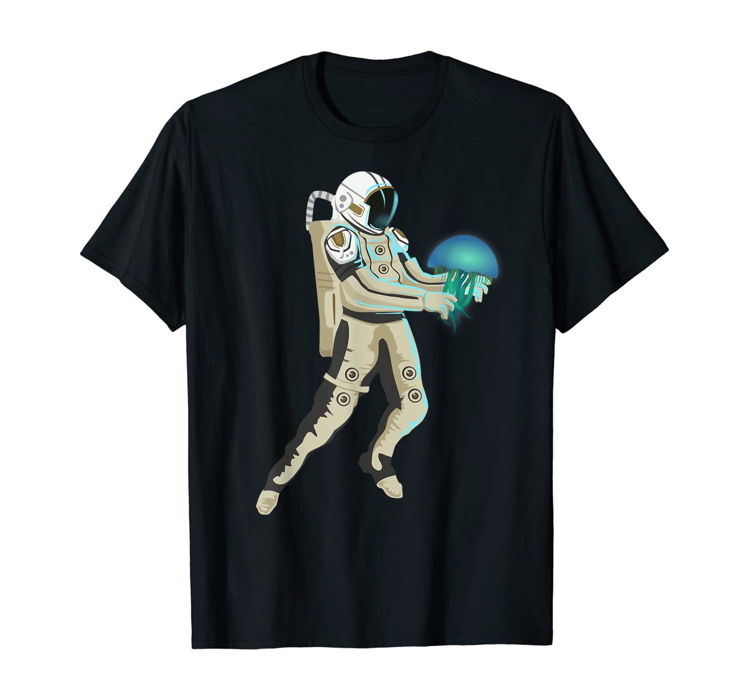 Space Astronaut and Jellyfish Clothes Medusa Gift Jellyfish T-Shirt