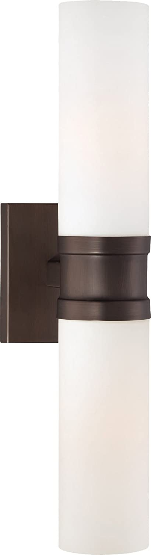 Minka Lavery Wall Sconce Lighting 4462-647 Glass Reversible 120w (18