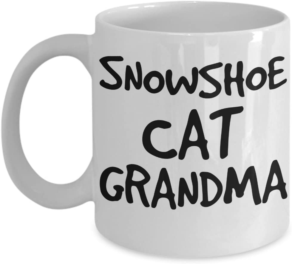 Snowshoe Cat Grandma Mug - White 11oz Ceramic Tea Coffee Cup - Perfect For Travel And Gifts