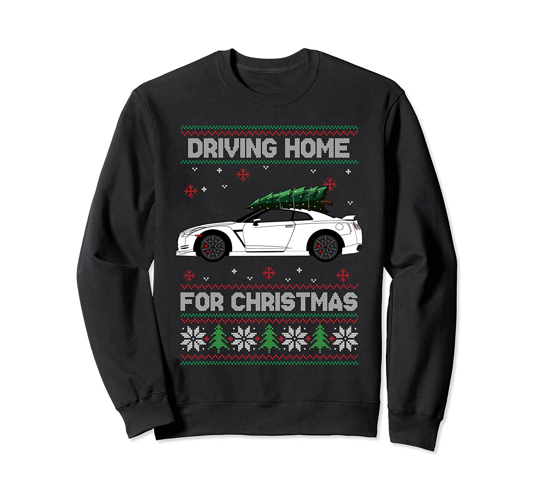 Christmas Tree On Tuning Car Xmas Ugly Sweater Pullover Look Sweatshirt