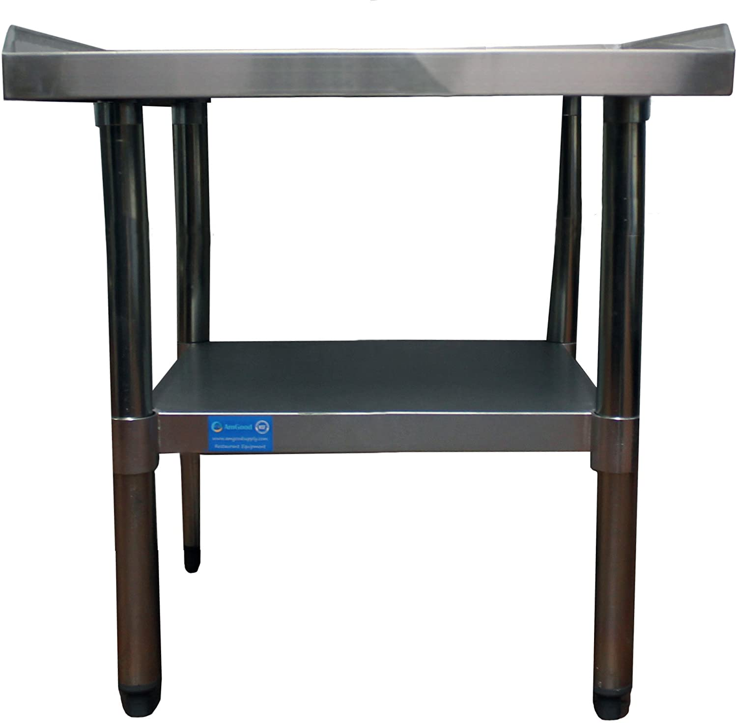 AmGood Stainless Steel Equipment Stand - Heavy Duty, Commercial Grade, with Undershelf, NSF Certified (24 Width x 36 Length)