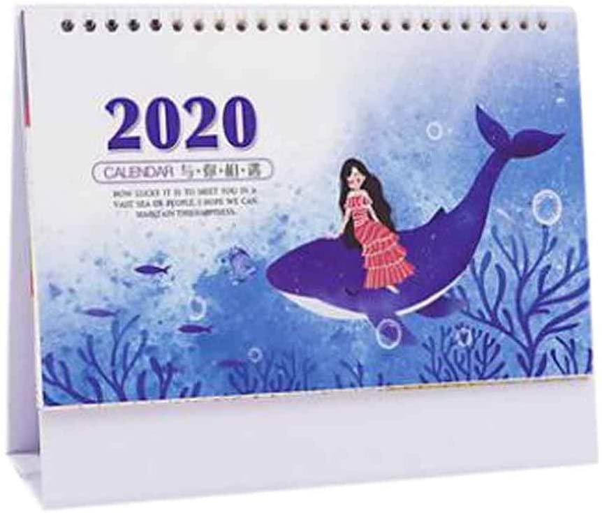 July 2019 to December 2020 Desk Calendar Desktop Calendar Schedule [C]