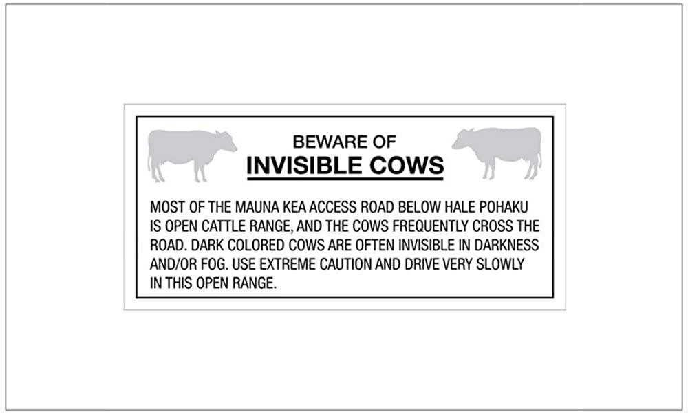 CNW Studio Beware of Invisible Cows, Hawaii (Us) Decal Vinyl Bumper Sticker 5