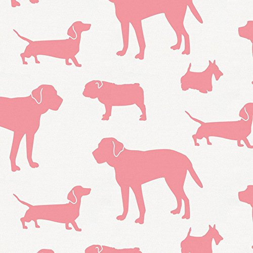 Carousel Designs Watermelon Dogs Fabric by The Yard - Organic 100% Cotton