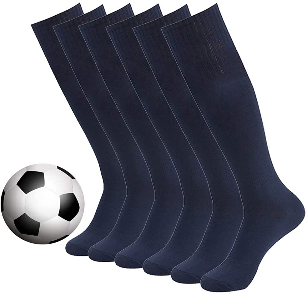 Long Tube Soccer Socks,DD DEMOISELLE Football Knee-High Over Calf Tennis Socks