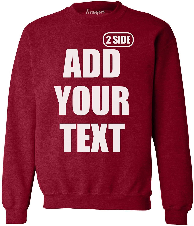 Custom Sweatshirt for Men Women Add Your Text Front Back Side Print Personalized Crewneck Sweatshirt