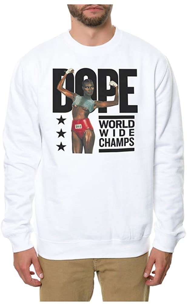 DOPE Mens The Worldwide Champs Sweatshirt, White, X-Large