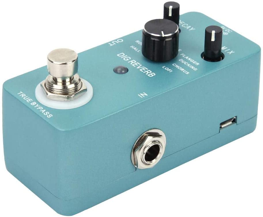 Naroote Reverb Pedal, 9 Reverb Types Digital Reverb Guitar Effect Pedal Guitar Parts Accessory -Product Quality Assurance