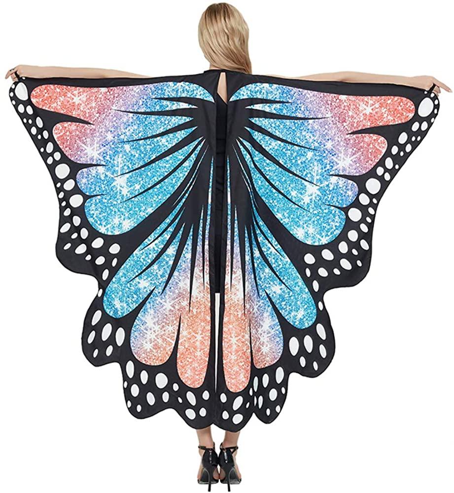 evebel Women Butterfly Wings, Butterfly Shawl Nymph Pixie Halloween Cloak Shawl