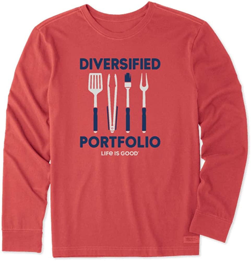 THE LIFE IS GOOD Men's Ls Divers Portfolio Grill