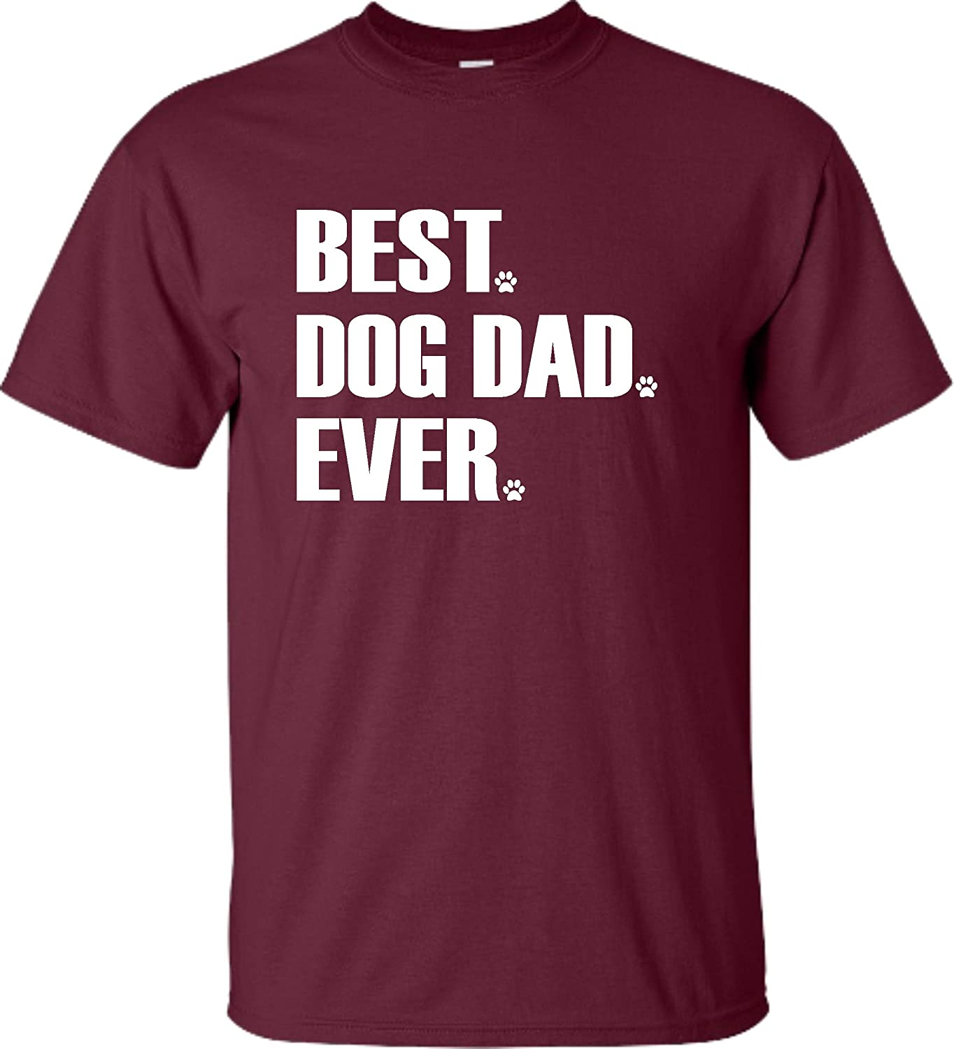 Go All Out Adult Best Dog Dad Ever Funny T-Shirt