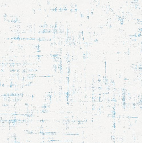 Carousel Designs Lake Blue Distressed Fabric by The Yard - Organic 100% Cotton