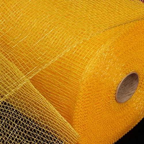 Yellow Gold Deco Mesh Craft Ribbon 6.5 x 120 Yards