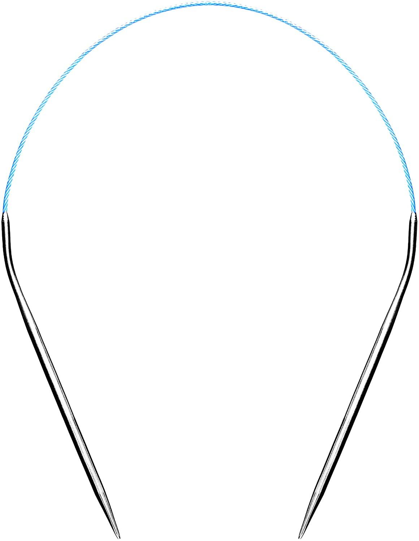 Size 6 Circular Knitting Needles 16 Inch Set Round Metal Kit