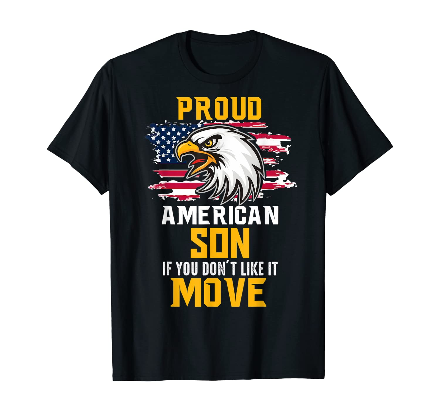 Proud American Son T-Shirt Patriotic Tee