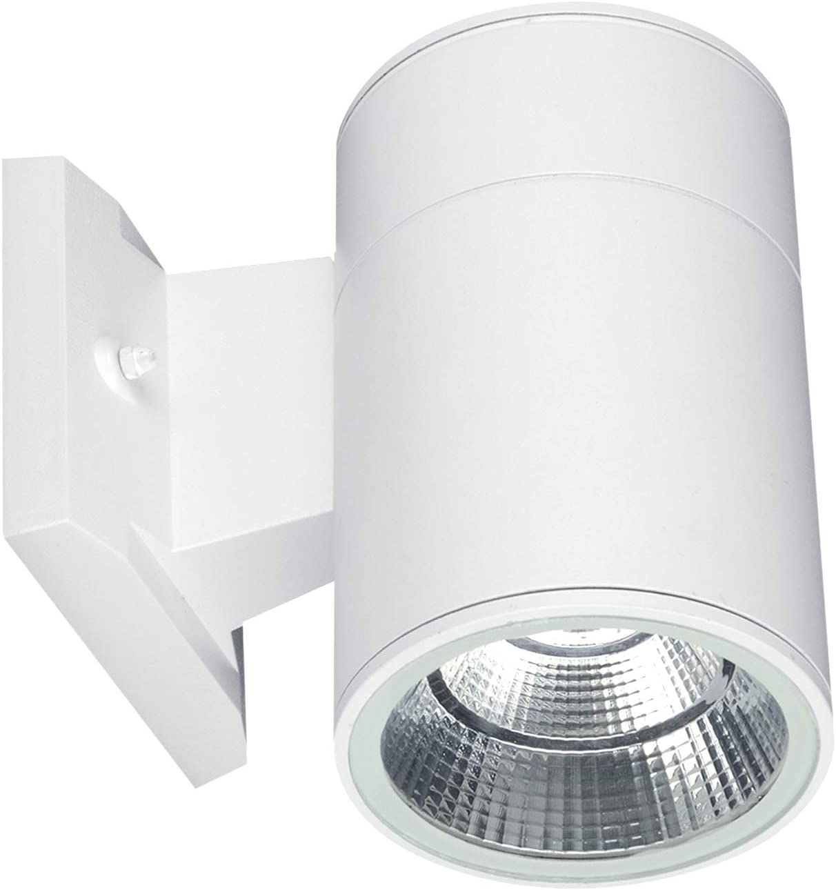OSTWIN (8 Pack) 1-Direction LED Outdoor Cylinder Up or Down Light, 9W (60W Equivalent), 735 Lumen, 3000K Warm Light, Modern Light Fixture for Door Way, Corridor, Waterproof, White, ETL and Energy Star
