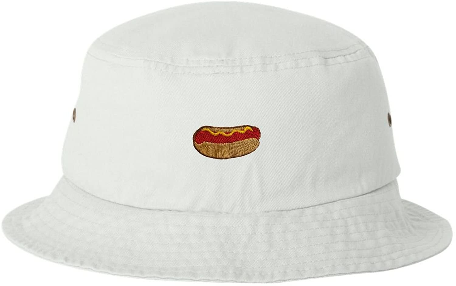 Adult Hot Dog Embroidered Bucket Cap Dad Hat