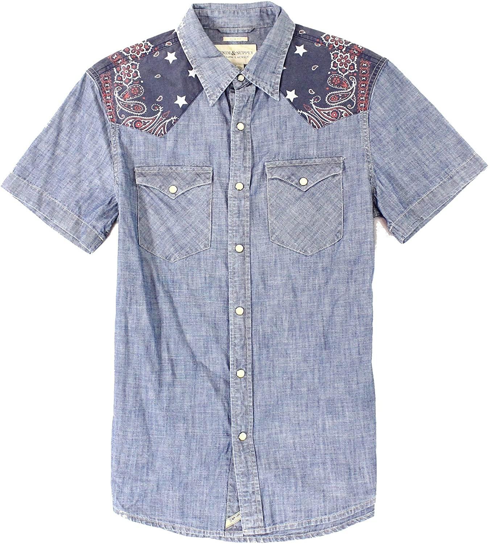 Ralph Lauren Mens Patch Button Up Shirt