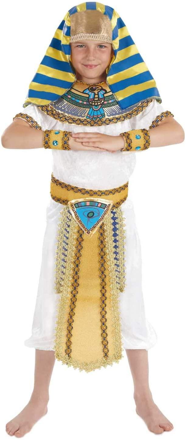 fun shack Boys Egyptian Pharaoh Costume Kids Historical King of Egypt Outfit - X-Large