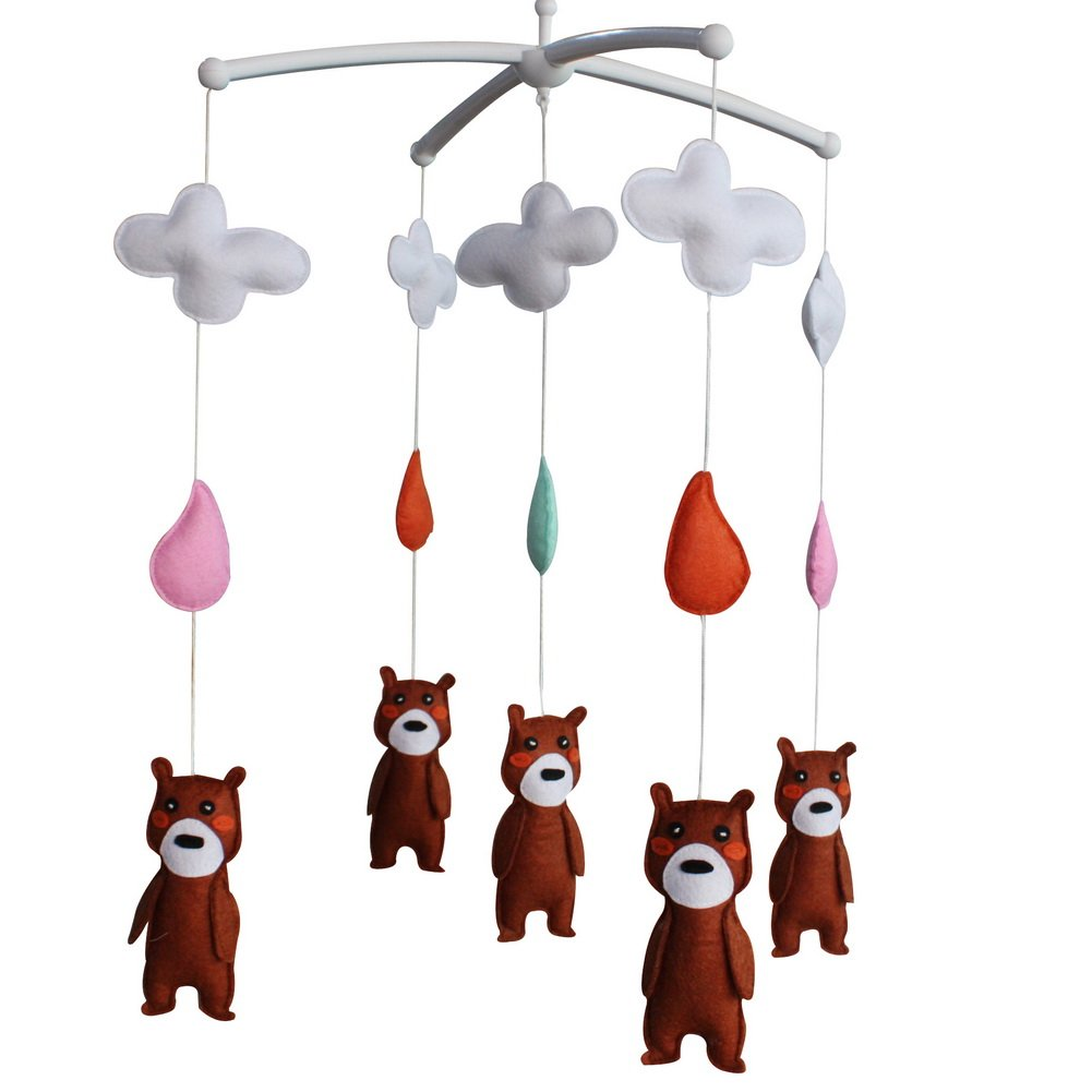 Crib Mobile Musical Toy Soothing and Pure Song for Baby, Animal Type, C02