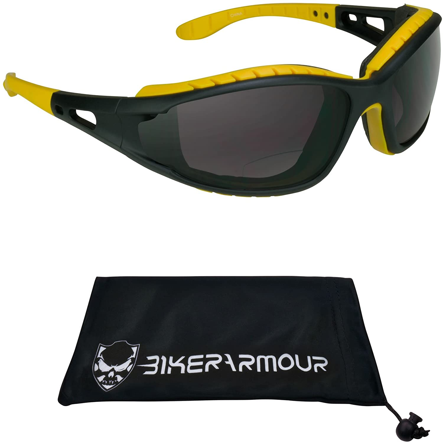 Motorcycle Bifocal Sunglasses with Removable Foam Padded