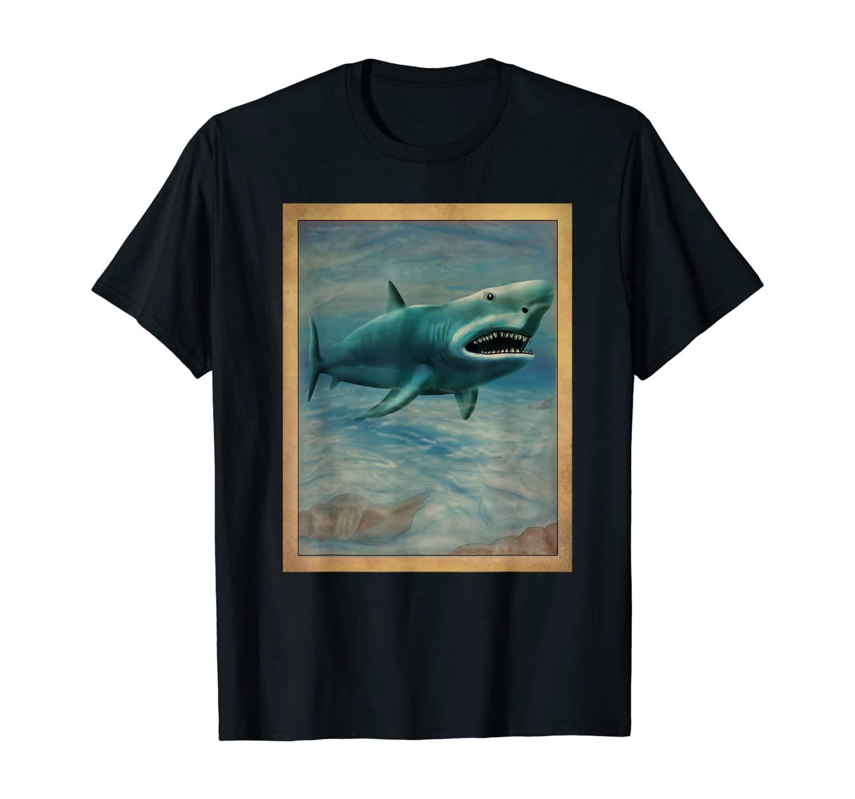 Japanese Shark Art Clothes Japan Outfit Gift Shark T-Shirt