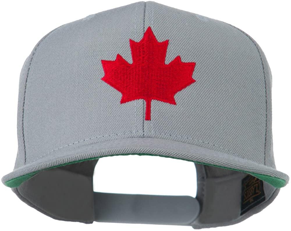 Canada Maple Leaf Embroidered Flat Bill Cap