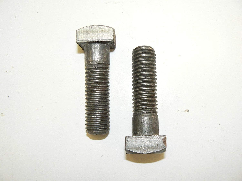 5/8-11 x 2 1/4Square Head Machine Bolt - Plain Steel Finish - Lot of 25 Pcs.