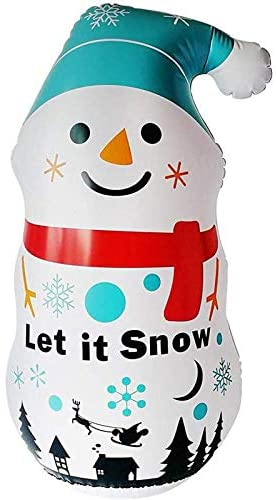 3.6 Ft Christmas Inflatables Snowman Blow Up Yard Decorations, Snowman Xmas Inflatable for Indoor Outdoor Yard Garden Christmas Decorations