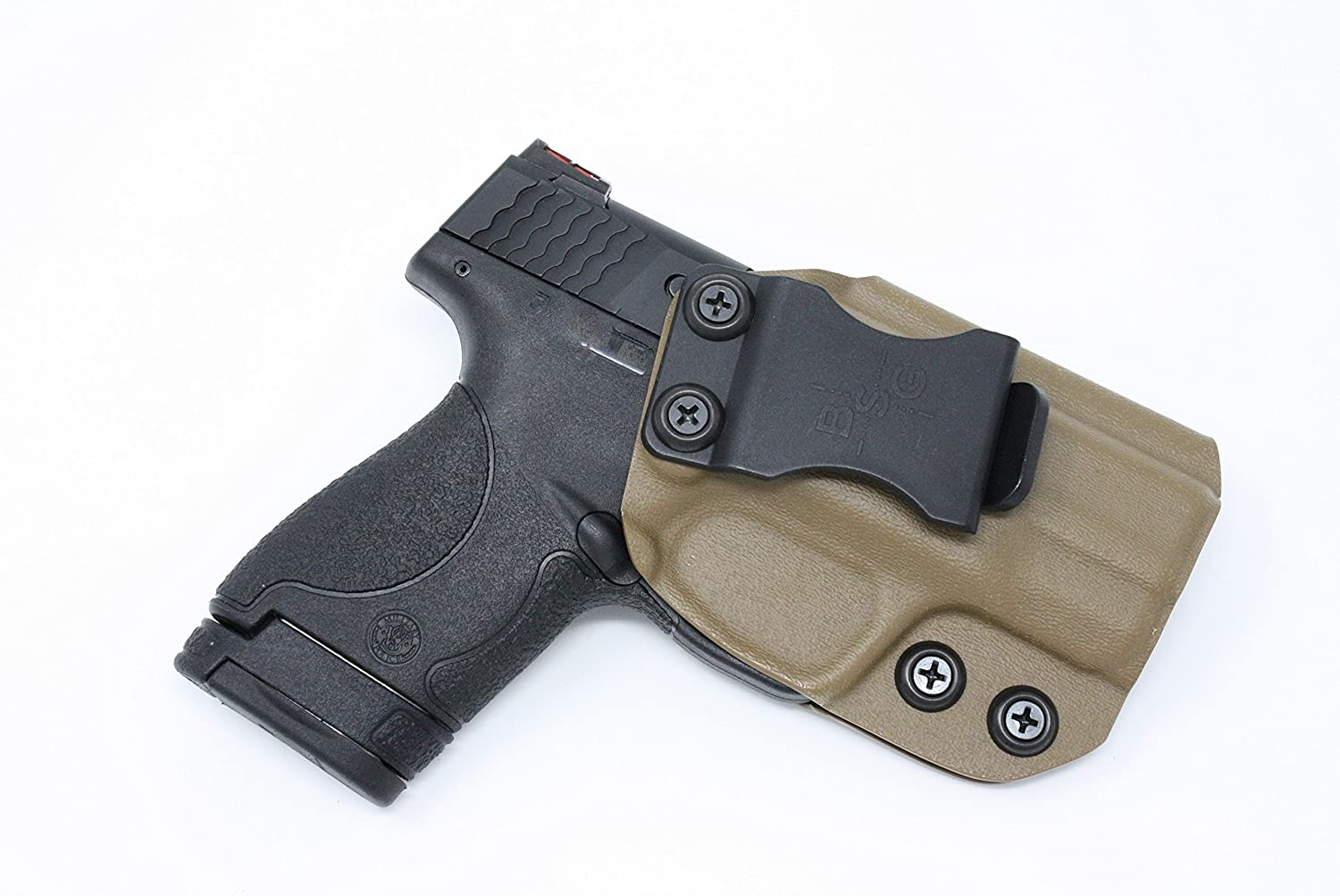 IWB KYDEX Holster: Fits Smith & Wesson M&P Shield 9MM / .40 Cal | M 2.0 & Performance Center) w/o Lights/Lasers | Made In USA | Custom Fit | Inside Waistband | Adjustable Cant / Retention System RH