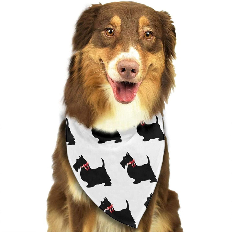 NiYoung Soft Dog Bandana Christmas Cool Lightweight Gift Looks Like Cowboy (Scottie Dog Funny Pattern)