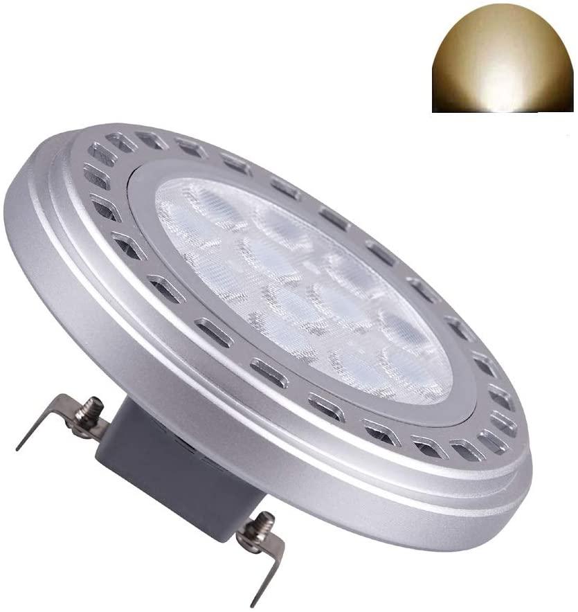 Led Ar111 Reflector Light G53 Base Spotlight 15w 30 Degree Natural Day Light 4000k Ac Dc 12v Retrofit Track Lights 1200lm Replacement 120w Halogen Tungsten Bulb 909213 41835wfl 41835fl (G53 12V)
