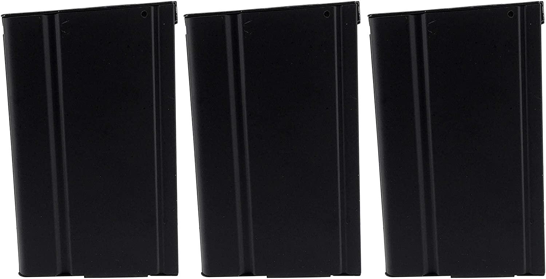 SportPro 400 Round Metal High Capacity Magazine for AEG M14 3 Pack Airsoft – Black