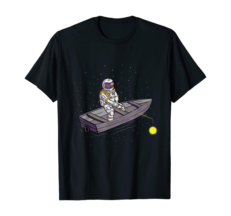 Fishing Astronaut Fisherman Space Cosmic Spaceman T-Shirt