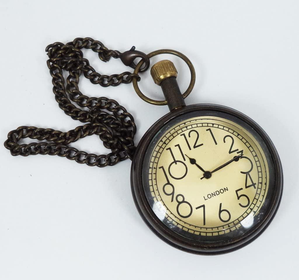 Battery Powered Hand Made Stylist London Pocket Watch