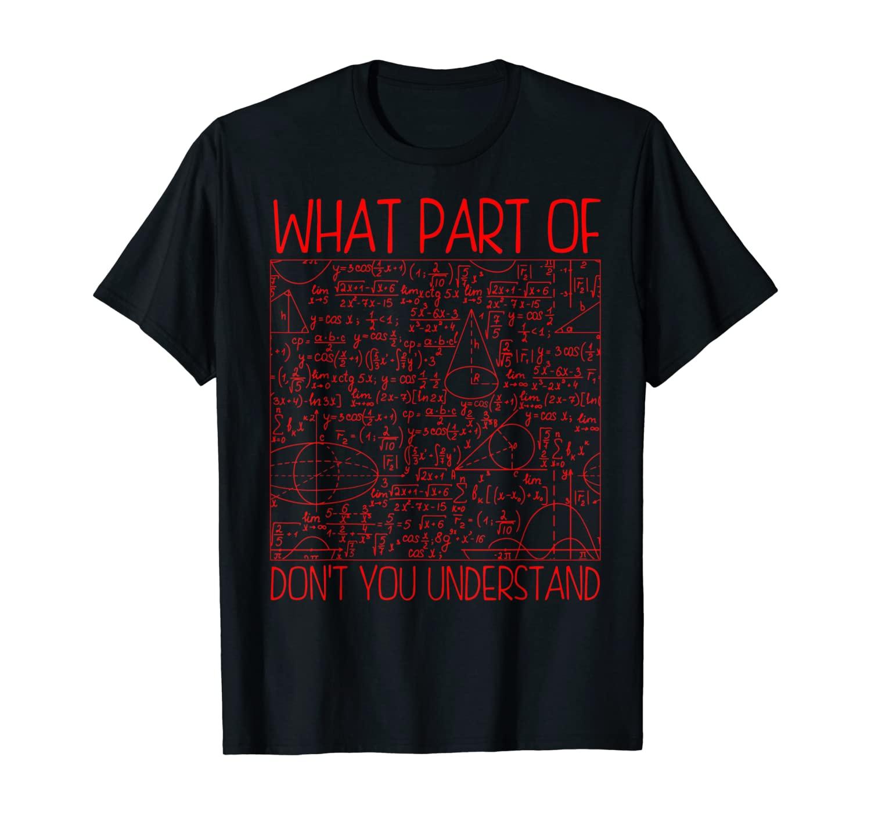 Funny Math Teacher Gift For Men Women Cool Mathematician T-Shirt