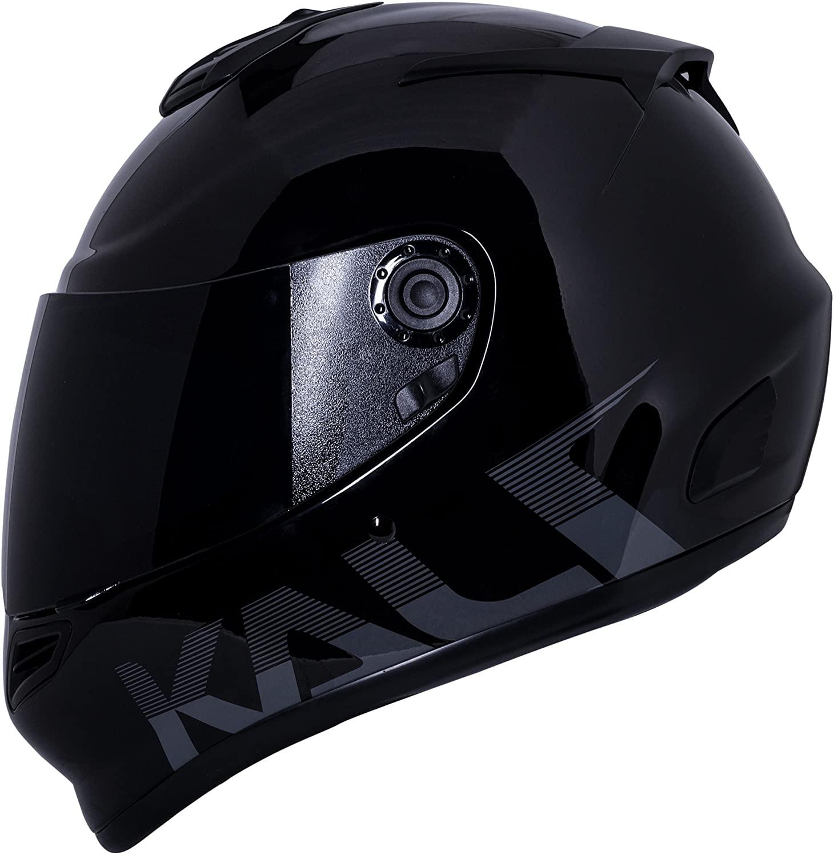 Kali Catalyst Solid Gloss Black Full Face Motorcycle Helmet S M L XL (S)