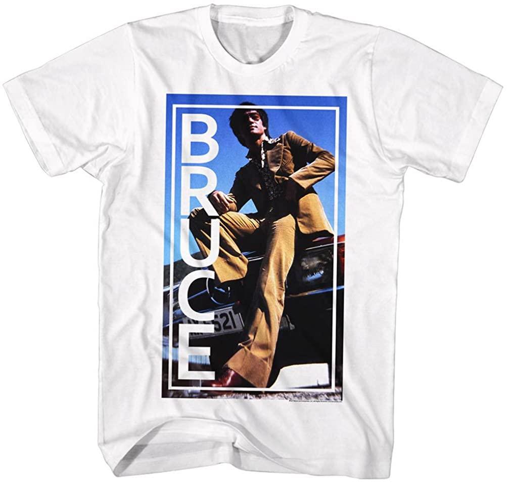 A&E Designs Bruce Lee Shirt Khaki Suit T-Shirt