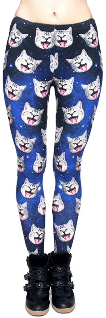 Women's 3D Color Graphic Digital Printing and Stylish Print Leggings Tights Pants