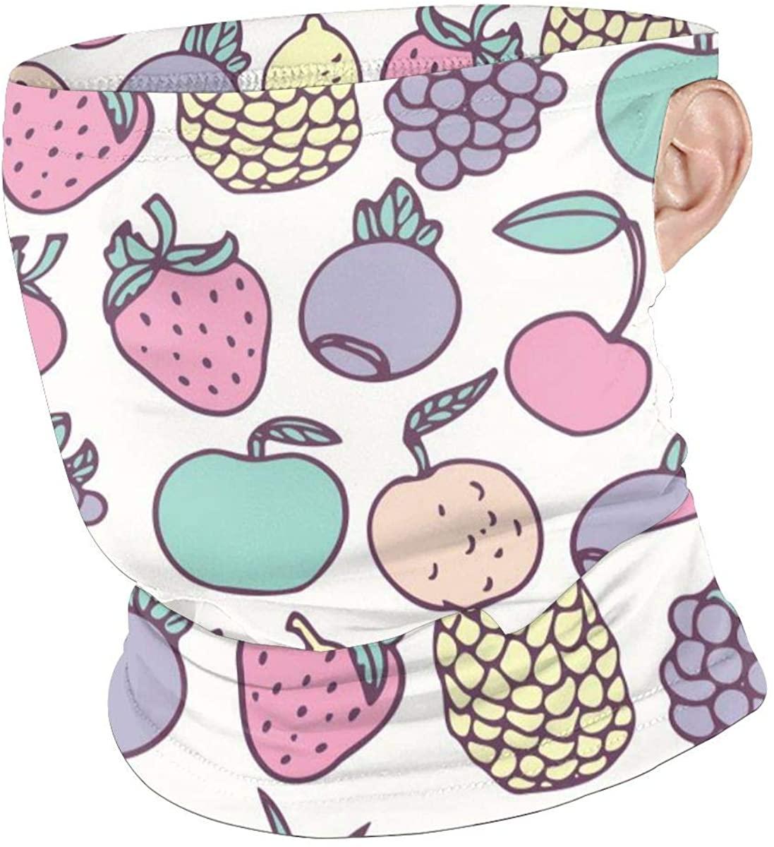 Lemon Pineapple Fruit Creative Lugs Face Mouth Mask Windproof Windbreak For Dust Festivals Scarf Bandana