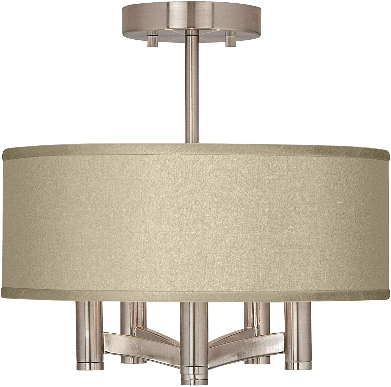 Ava Modern Ceiling Light Semi Flush Mount Fixture Brushed Nickel 14