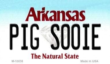 Bargain World Pig Soonie Arkansas State License Plate Magnet Novelty (Sticky Notes)