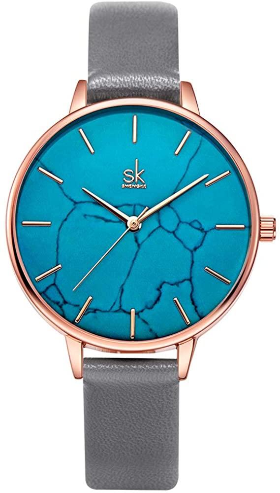 SHENGKE Women Marble Watches Quartz Minimalist Watch Creative Girls Ladies Waterproof Wristwatch Relogio Feminino