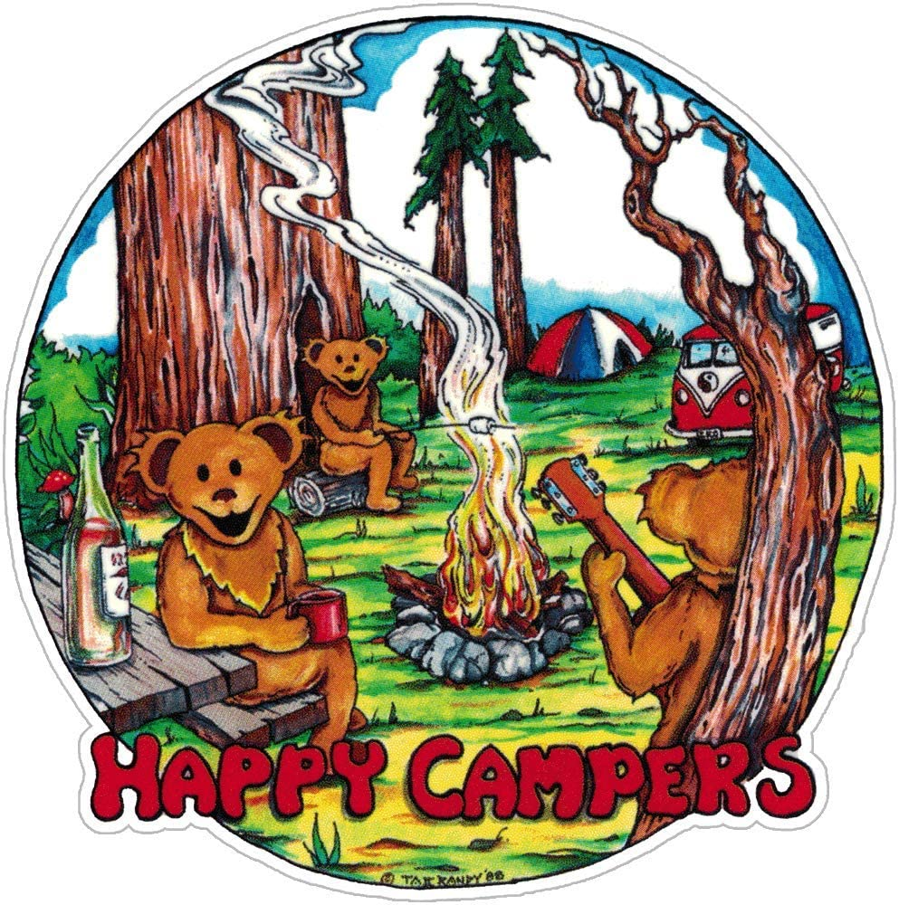 Happy Campers - Window Sticker/Decal (4.5