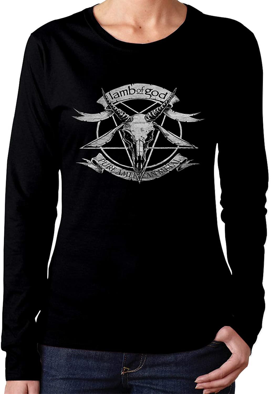 Milarois Lamb of god Long Sleeve Shirts for Women Classic Black t Shirt