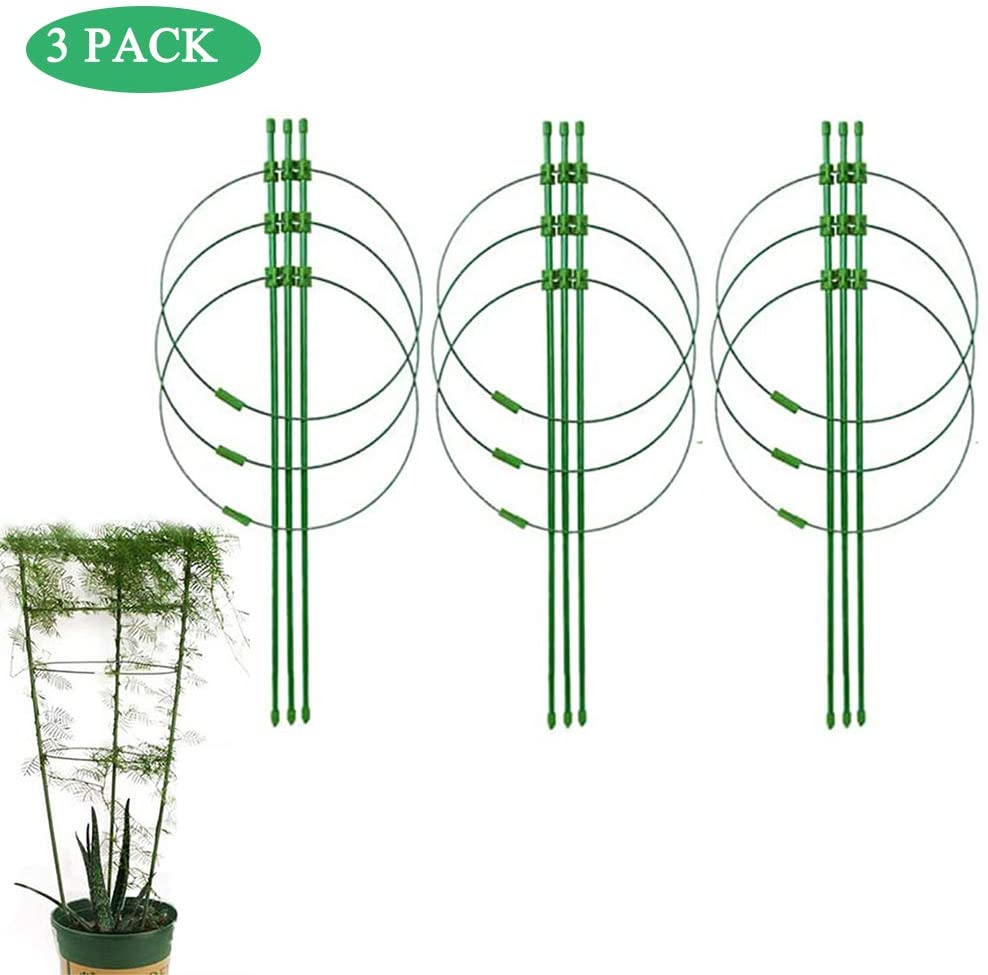 Yuehuam 3pcs/Set Trellises for Climbing Plants, Vine Climbing Rack Trellises Vines Support Rack Gardening Tool for Climbing Outdoor Plants Flower DIY Potted Plant Support