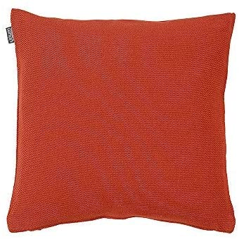 Linum Pepper Throw Cushion Cover 100% Cotton Decorative Pillow Cover Solid Color 16Wx16L Rusty Orange