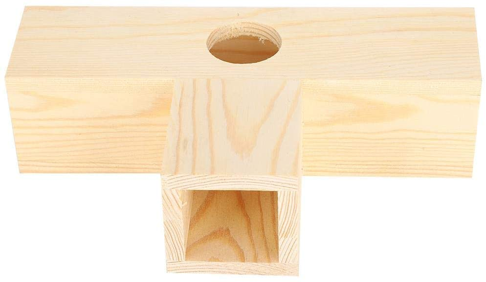 Zerodis Wooden Hamster Playing Tunnel Tube, Pet Rat Gerbil Mice Chinchilla Guinea Pig Squirrel Small Animal Chewing Toy House Nest Natural Wood Teeth Grinding