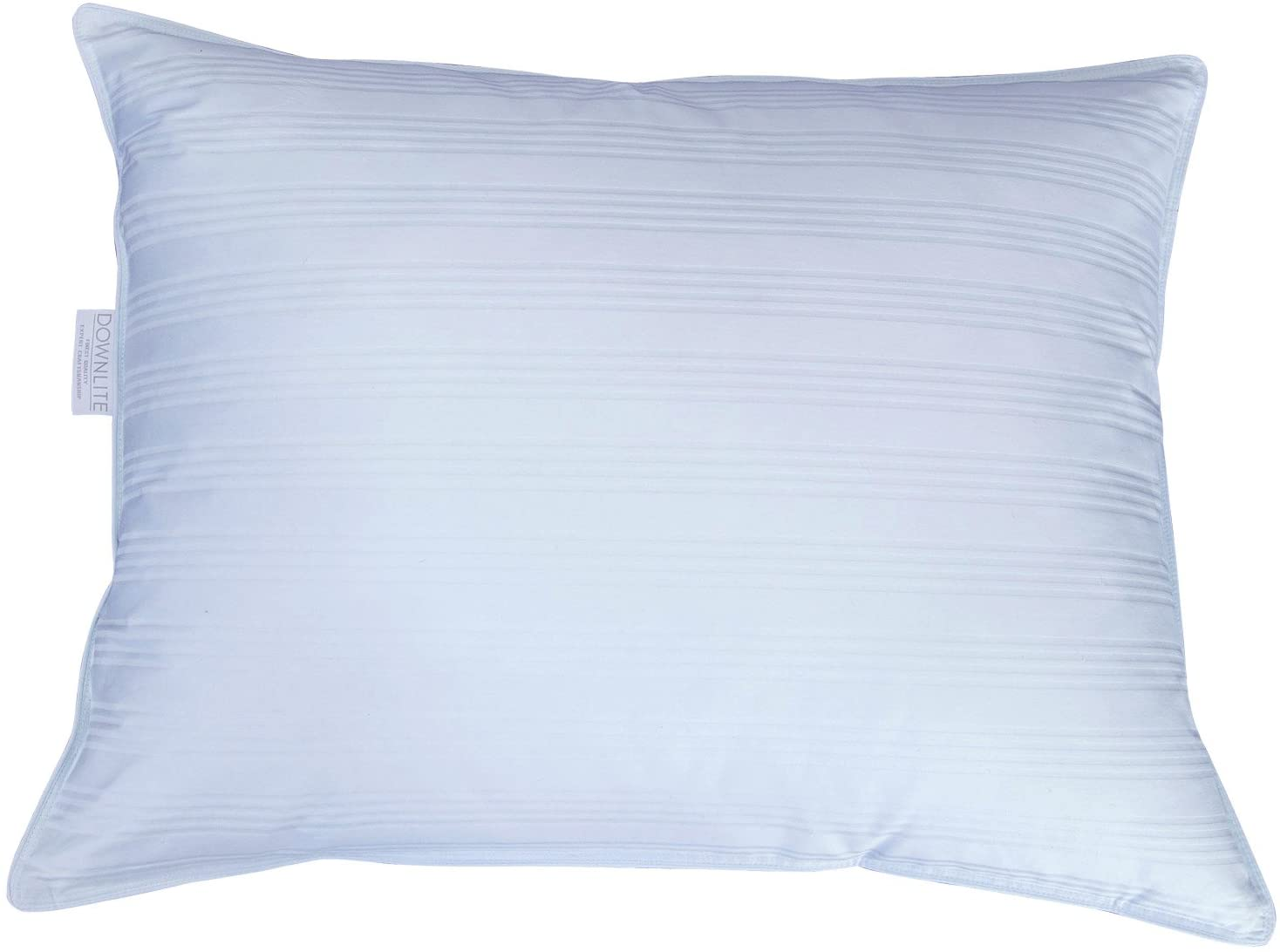 DOWNLITE Extra Soft Low Profile Down Pillow - Great for Stomach Sleepers Only - Very Flat (King - Duck Down) - This is the least filled king size pillow we make - please read reviews!